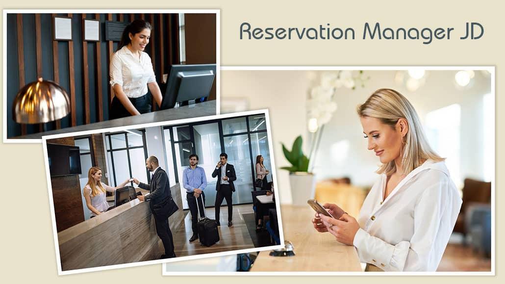 Bản mô tả công việc Reservation Manager